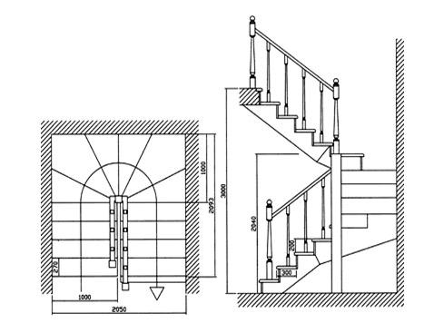 Винтовая лестница своими руками схема